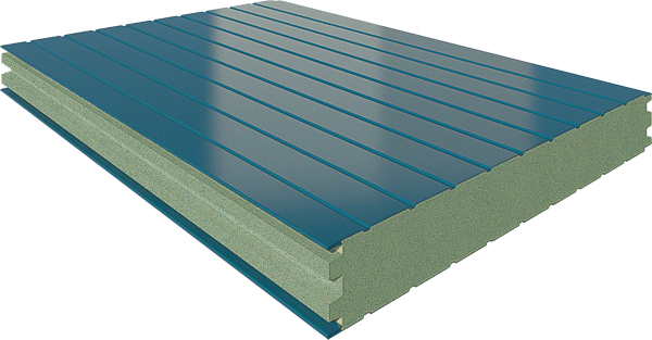 Панели типа сэндвич стеновые с минералватным утеплителем (МВУ)